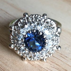 925 blue sapphire ring